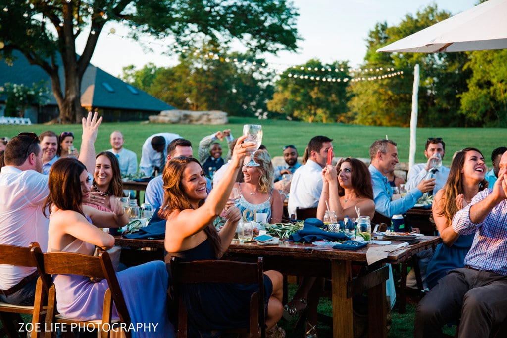 Toasts at Arrington Vineyard Wedding Photographer