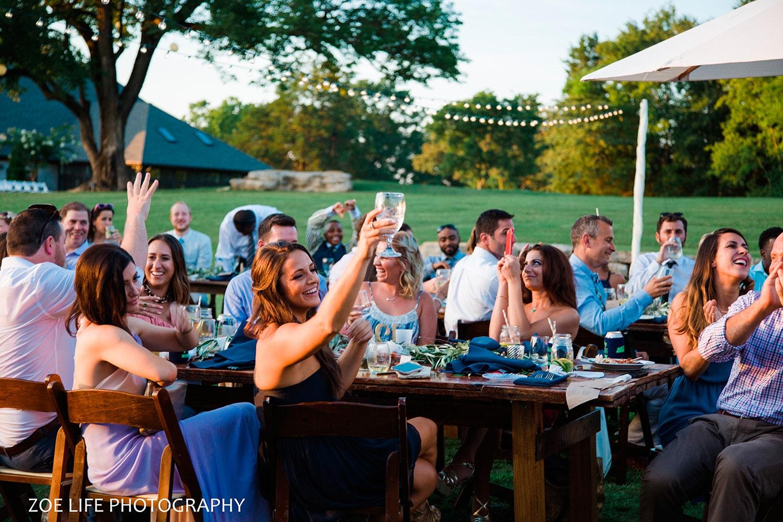 Toasts at Arrington Vineyard Wedding Photographer