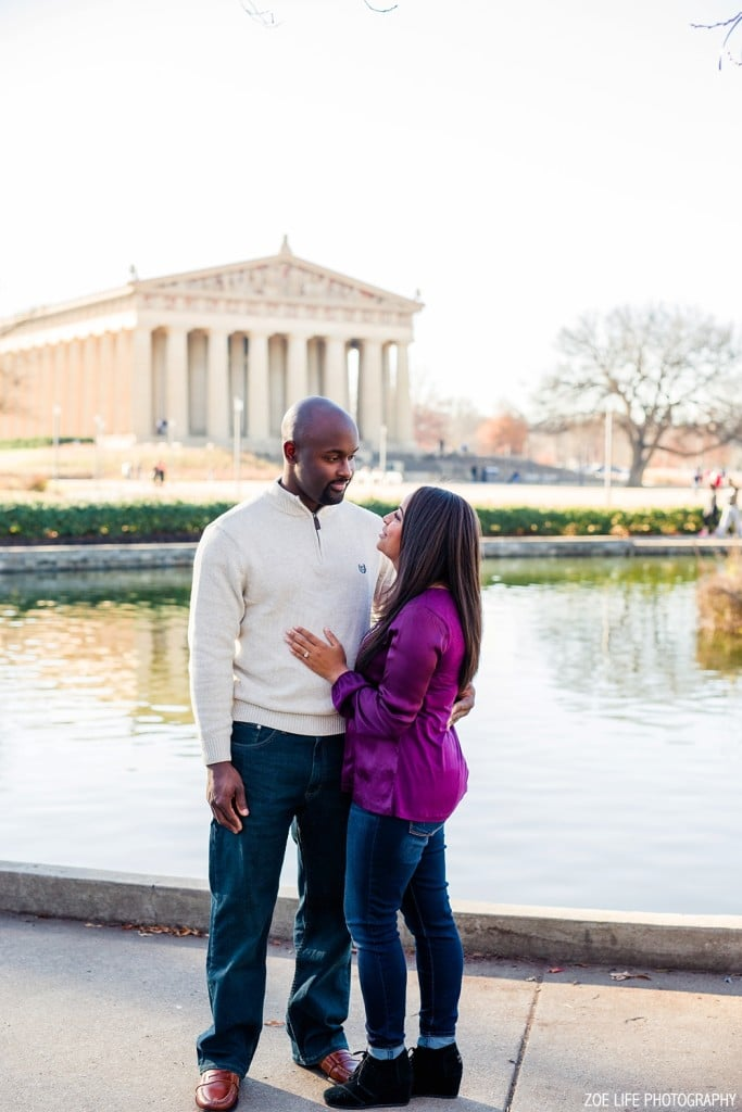 Nashville, TN Engagement and Wedding Photographer. Engagement photography at Centennial Park, Nashville, TN