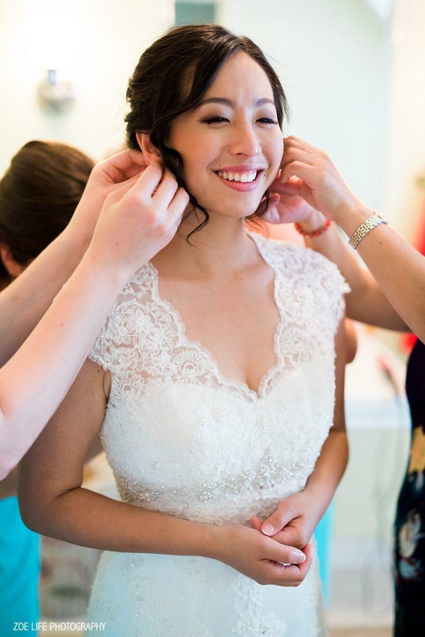 Bride in Dress, Getting Ready Wedding Photos, Nashville Wedding Photographer