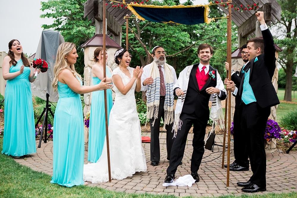 Breaking of the Glass Jewish Wedding Ceremony