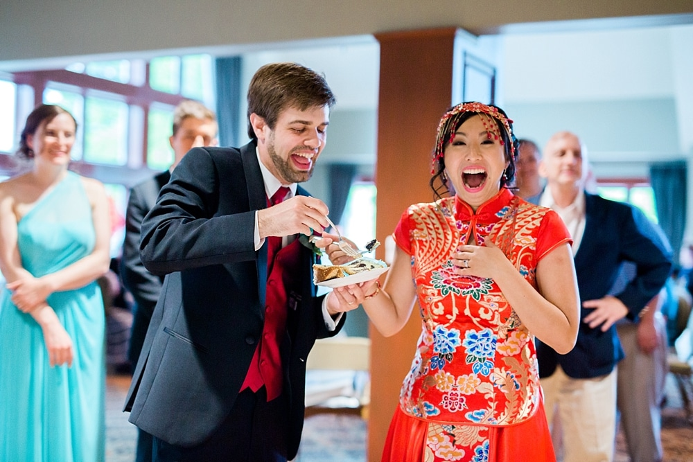 Excitement after Cutting of Cake, Wedding Photographer