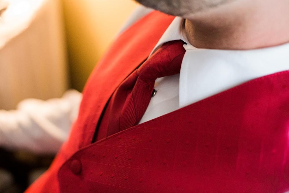 Groom Tie Detail Shot
