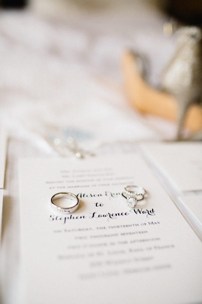 Wedding Invitation and Wedding Bands