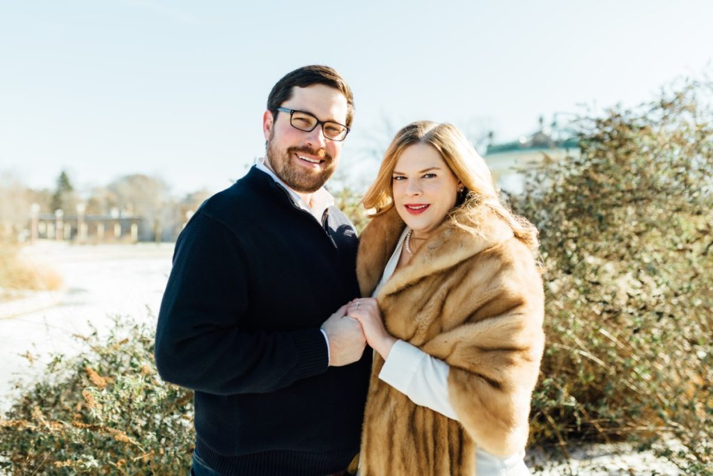 Winter Engagement Session at Forest Park