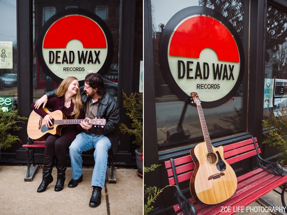 St. Louis Cherokee Street Engagement Photos Dead Wax Records