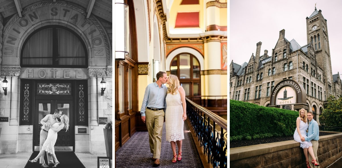 Nashville Engagement Session at Union Station Hotel