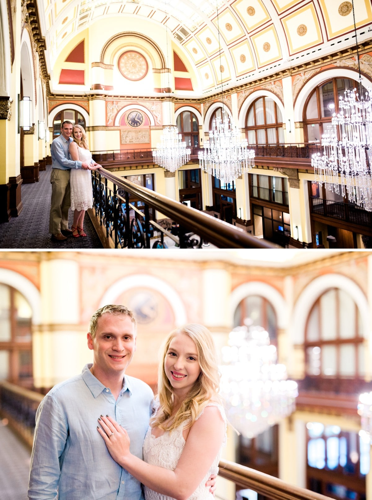 Nashville Engagement Session at Union Station Hotel
