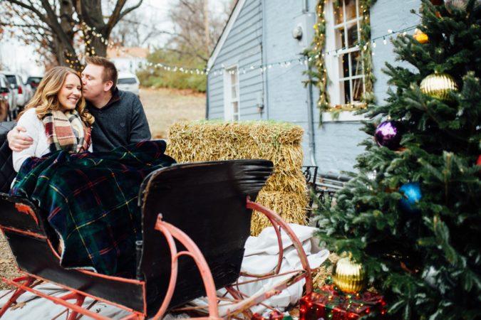 Missouri Christmas Engagement Session