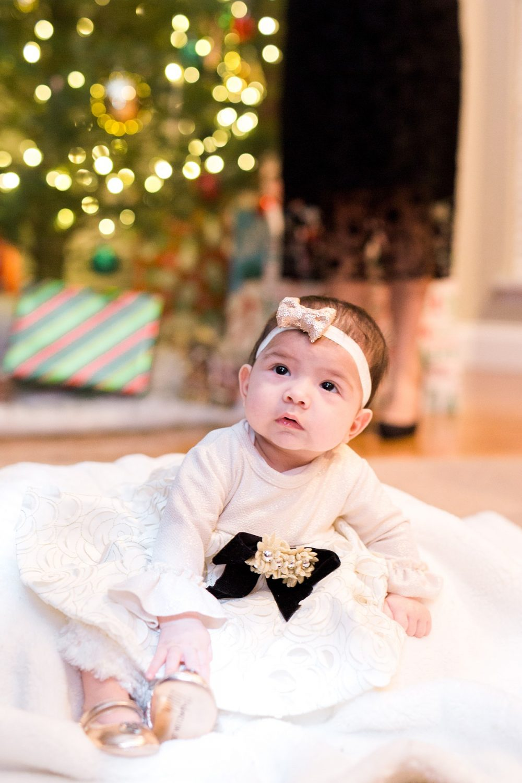 Baby Under Christmas tree, Christmas Portrait