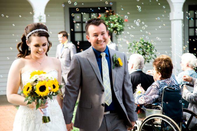 Queeny Park Barn Courtyard Wedding