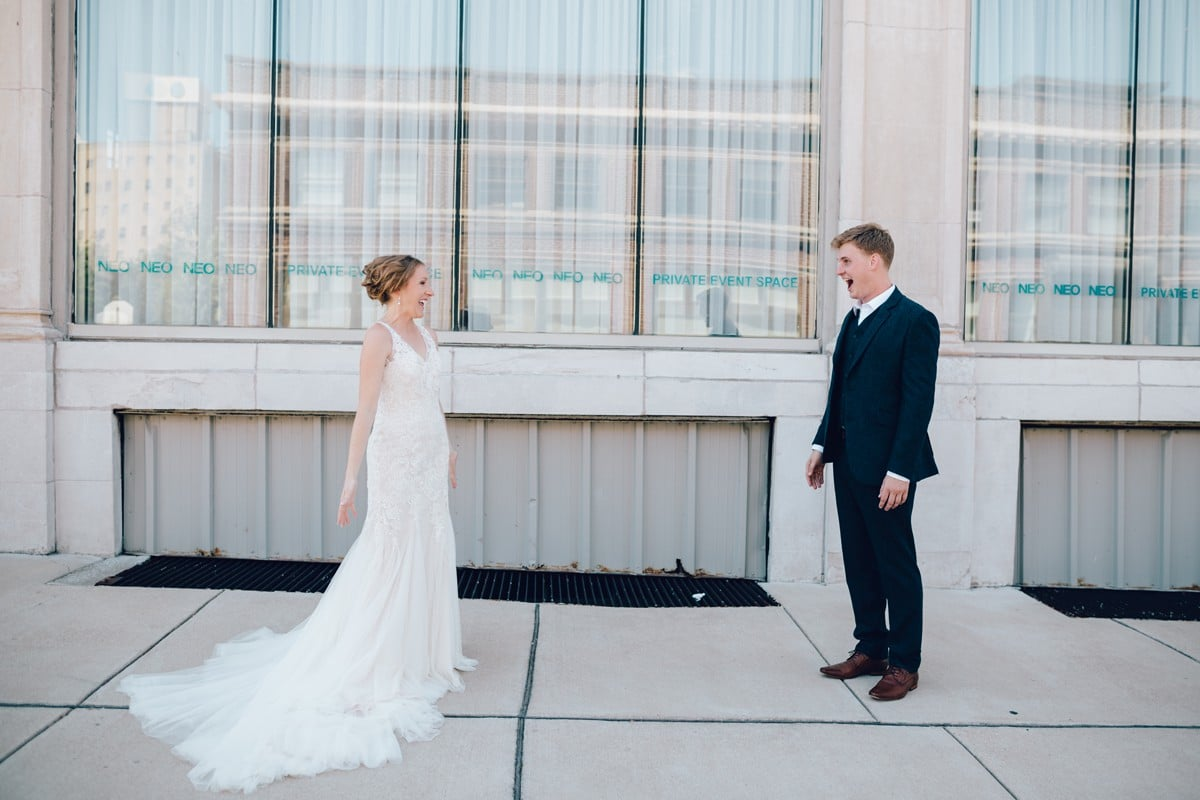 Saint Louis Wedding Photography, Bride and Groom Portrait, First Look