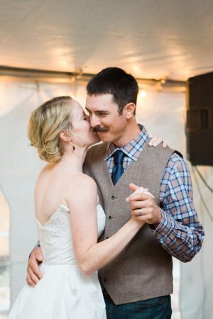 Rustic Backyard Wedding in the Woods, First Dance