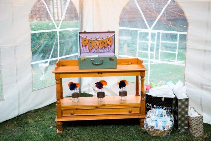 Rustic Backyard Wedding in the Woods, Reception Decor