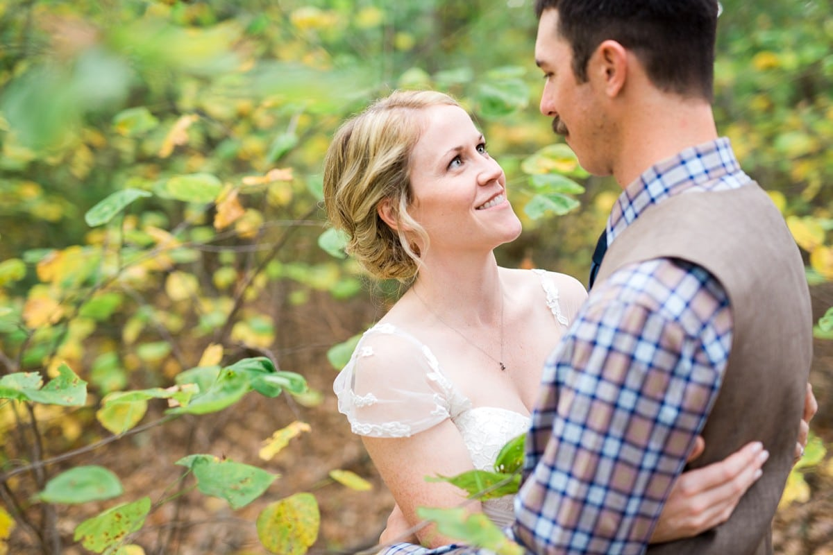 Bride and Groom Portraits in the Woods, Wedding Photography, St. Louis Wedding Photographer