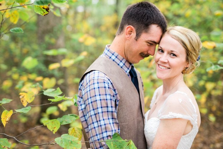 Bride and Groom Portraits in the Woods, Wedding Photography