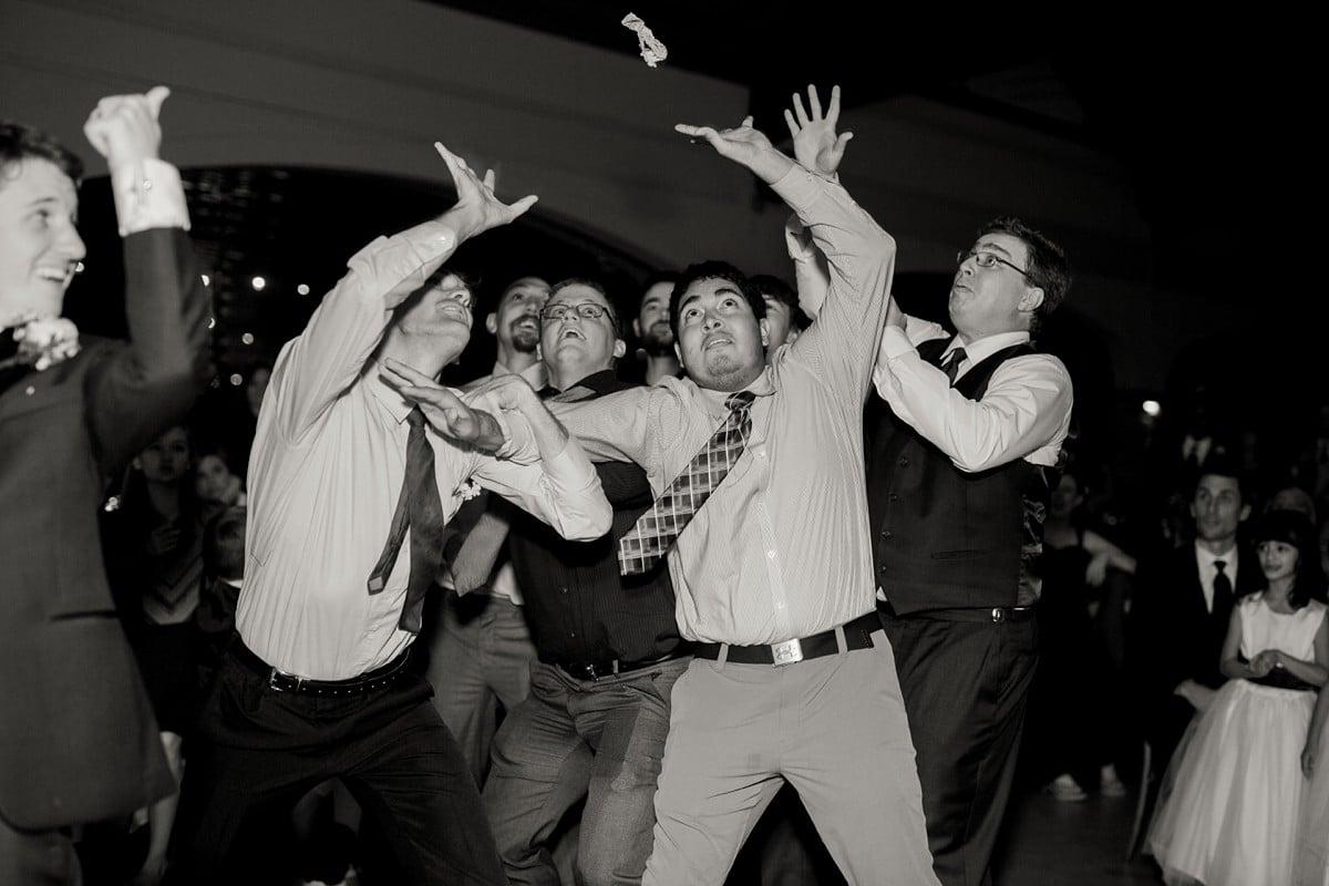 Garter Toss Wedding Photography