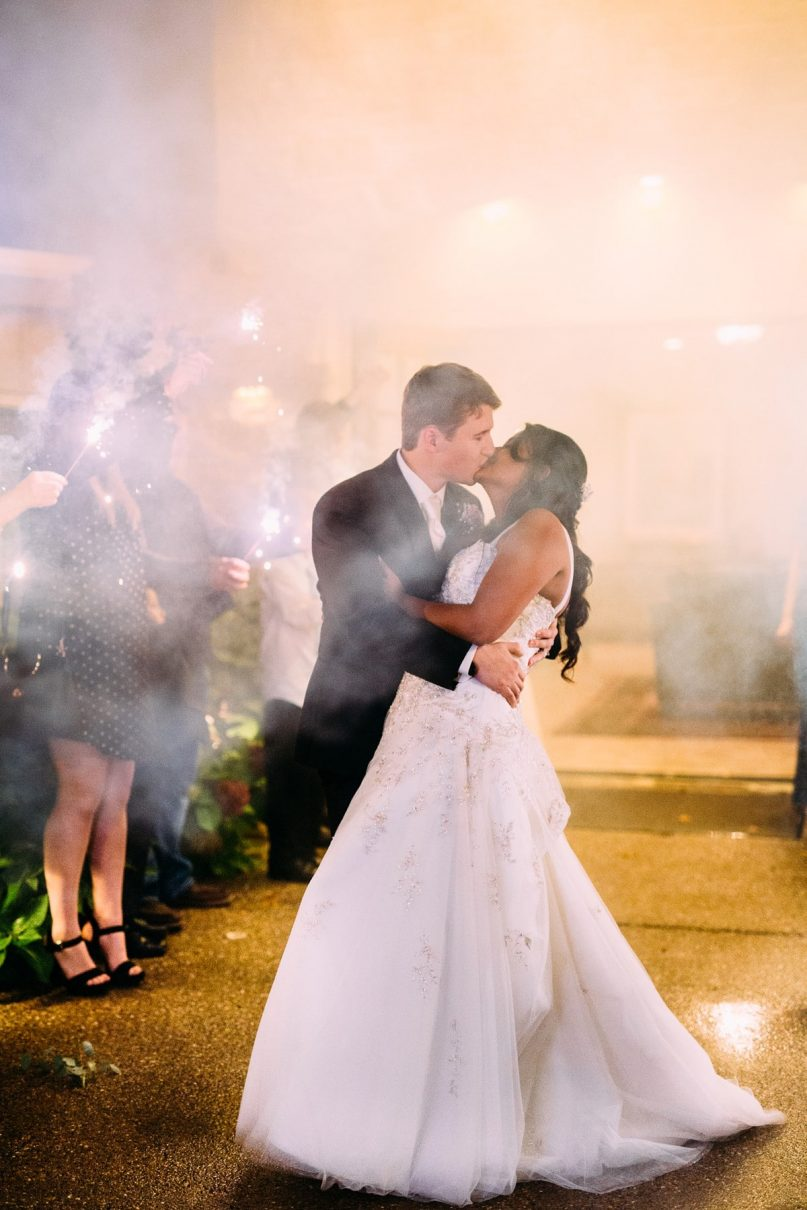 Smoky Sparker Exit, Wedding Photography