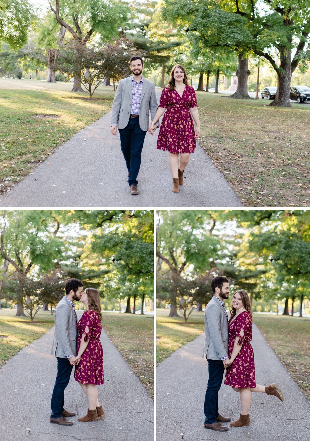 Tower Grove Park Engagement Photographer