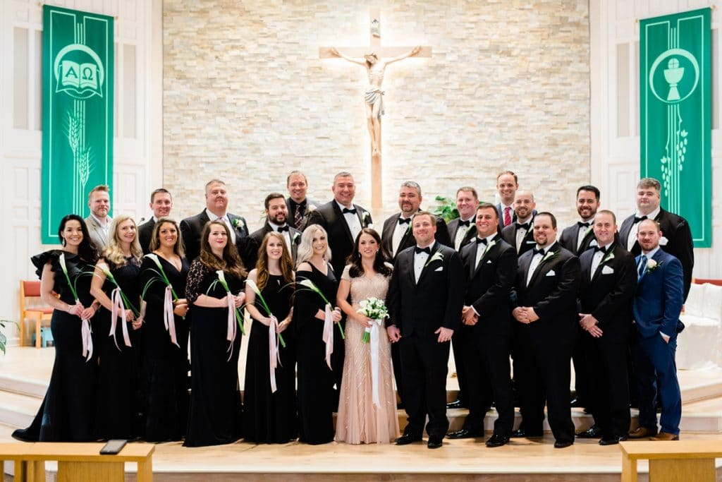 Nashville Wedding Photographers, St. Philip Catholic Church Franklin Wedding, Wedding Party Portraits