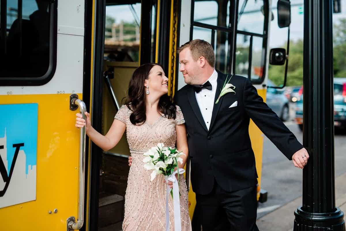 Nashville Wedding Photographers, Nashville Trolley Party Bus Photos