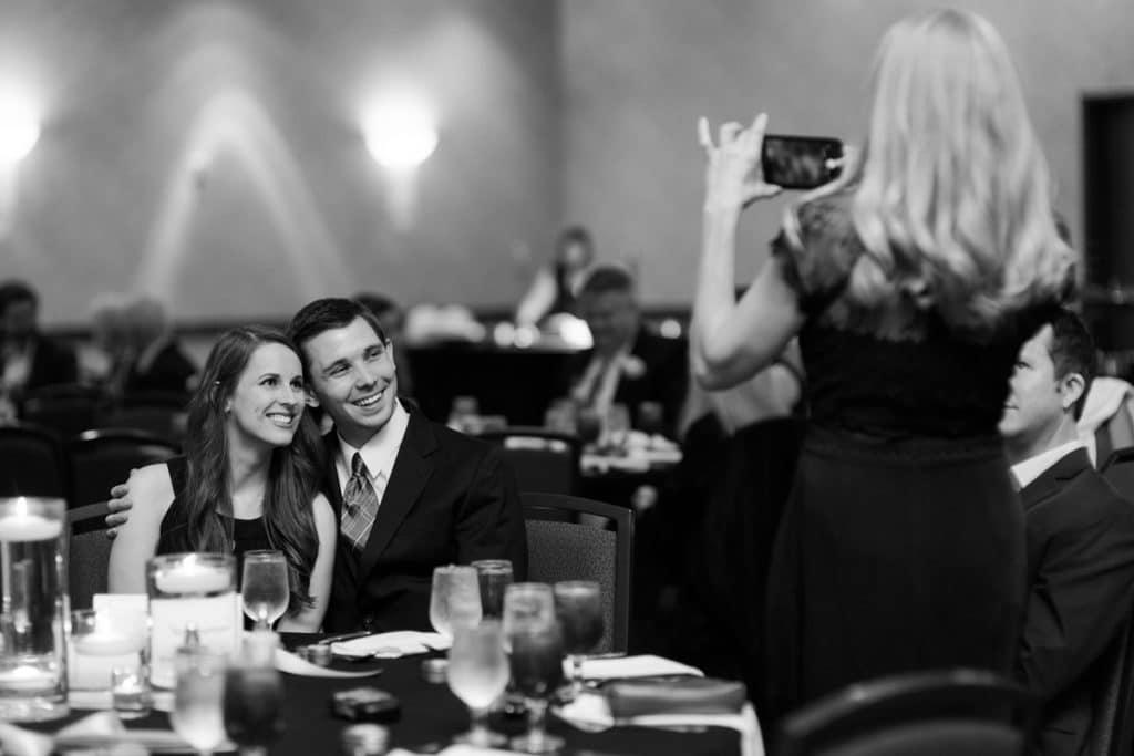 Nashville Wedding Photographers, Embassy Suites Cool Springs Wedding Reception, Black and White Reception Photos