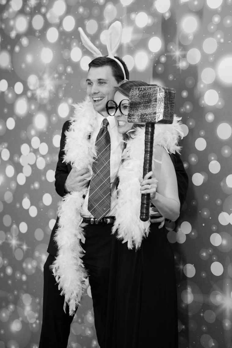 Nashville Wedding Photographers, Embassy Suites Cool Springs Wedding Reception, Photo Booth, Black and White Reception Photos