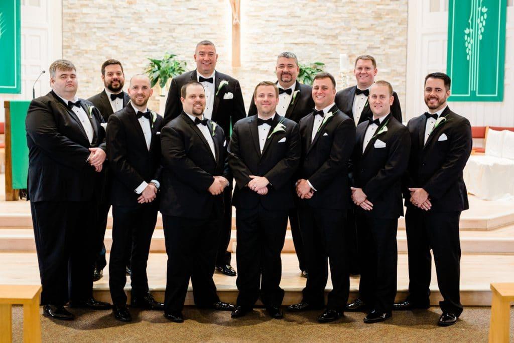 Nashville Wedding Photographers, St. Philip Catholic Church Franklin Wedding, Catholic Wedding, Groomsmen Photo
