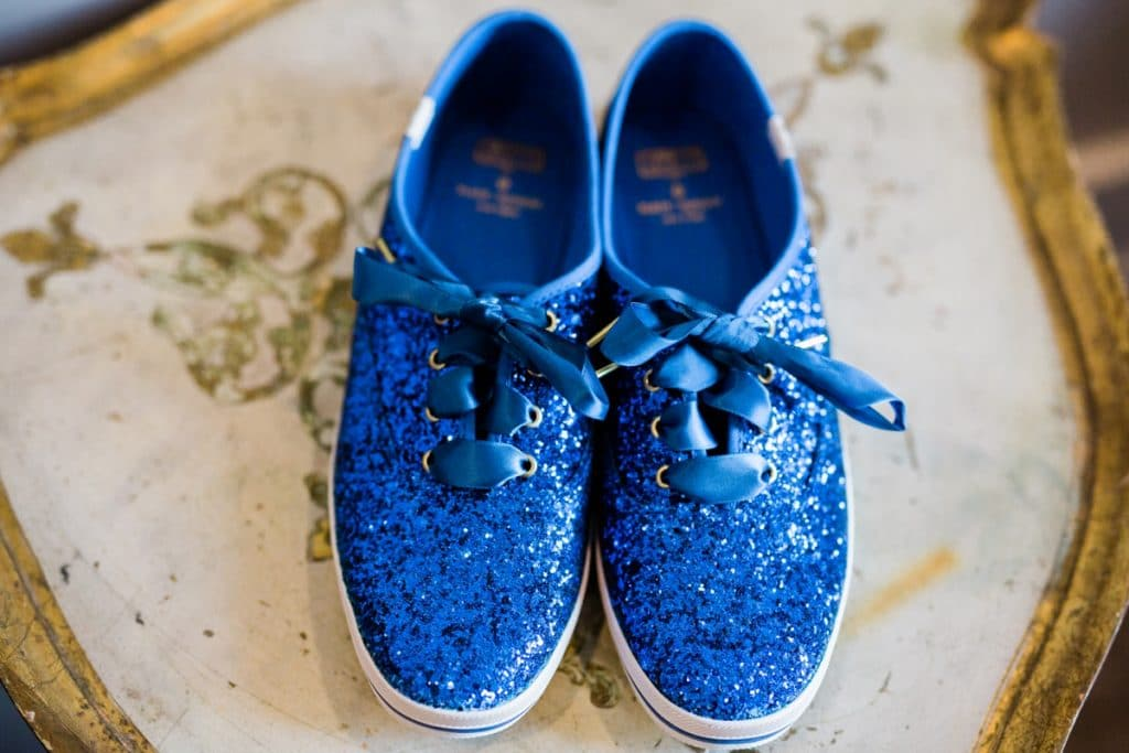 St. Louis Wedding Photographers, Silver Oaks Chateau Wedding, Blue Wedding Shoes