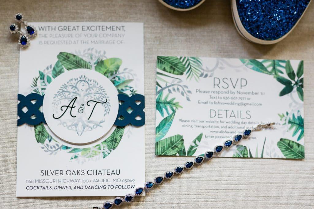 St. Louis Wedding Photographers, Silver Oaks Chateau Wedding, Invitation Suite, Wedding Details