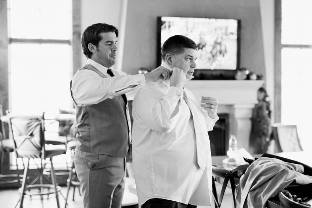 St. Louis Wedding Photographers, Silver Oaks Chateau Wedding, Groom Getting Ready