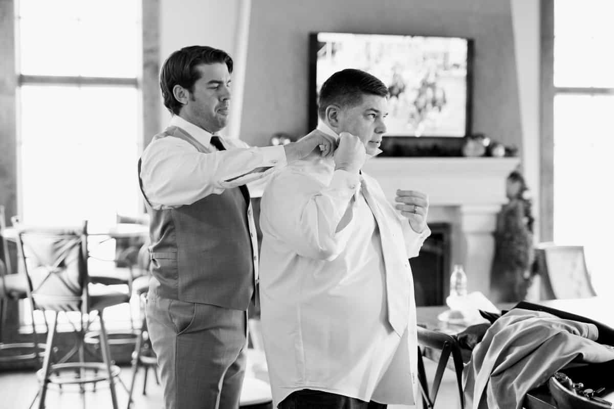 St. Louis Wedding Photographers, Silver Oaks Chateau Wedding, Groom Getting Ready