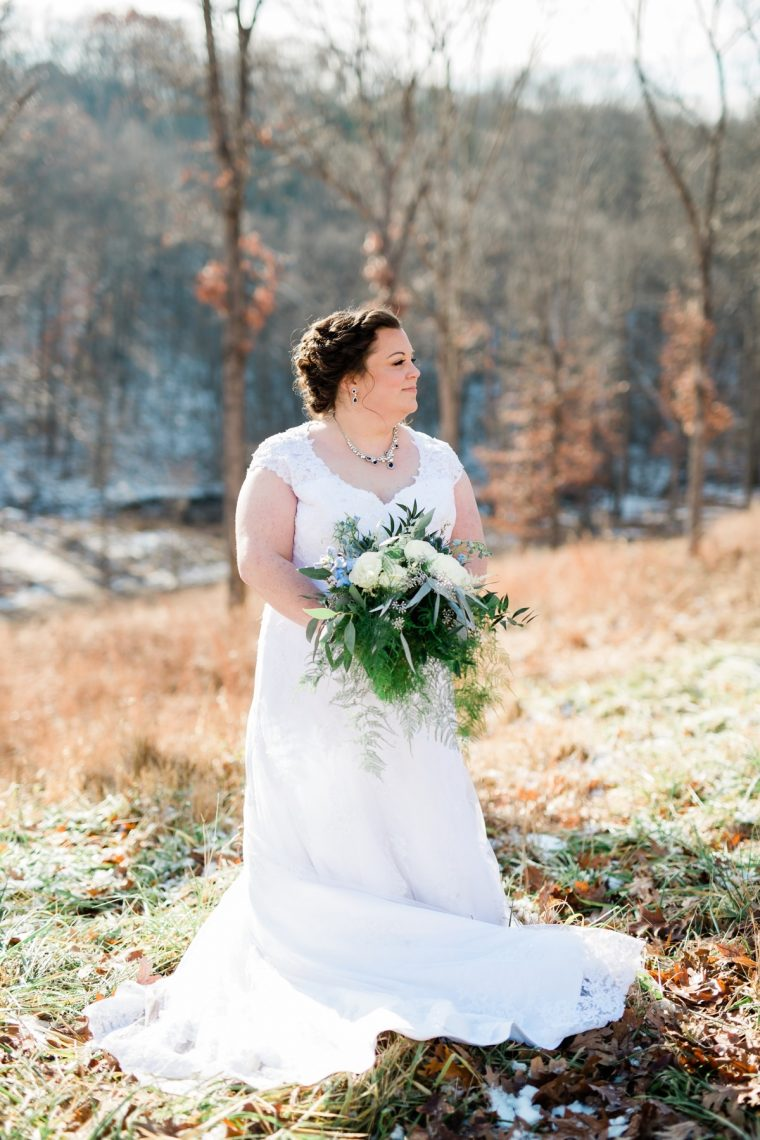 St. Louis Wedding Photographers, Silver Oaks Chateau Wedding, Bride Alone