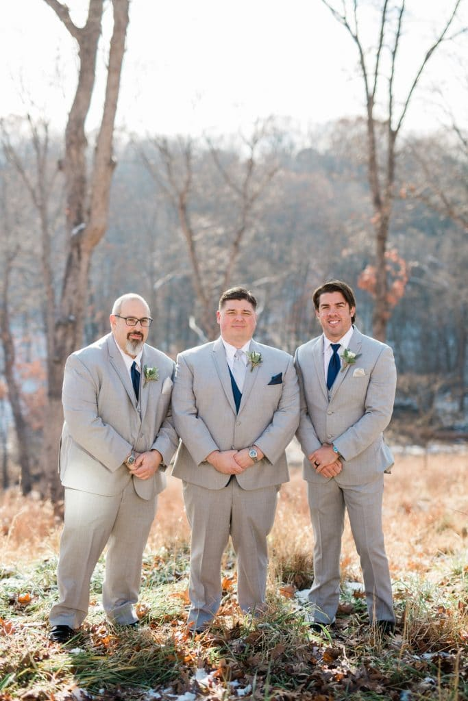 St. Louis Wedding Photographers, Silver Oaks Chateau Wedding, Groom and Groomsmen Portraits