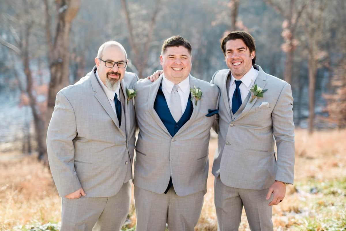 St. Louis Wedding Photographers, Silver Oaks Chateau Wedding, Groom and Groomsmen Formal Pictures