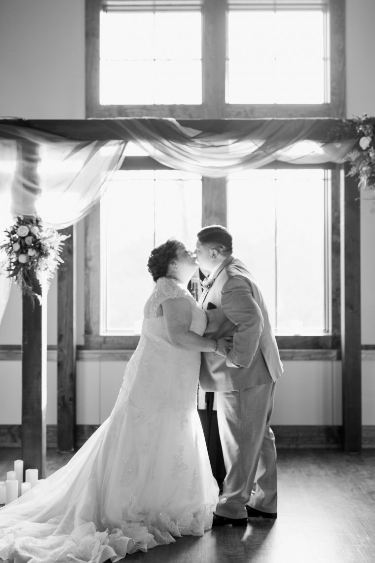St. Louis Wedding Photographers, Silver Oaks Chateau Wedding, First Kiss