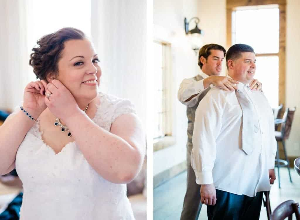 St. Louis Wedding Photographers, Silver Oaks Chateau Wedding, Bride and Groom Getting Ready