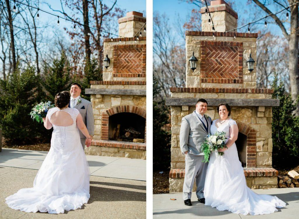 St. Louis Wedding Photographers, Silver Oaks Chateau Wedding, Bride and Groom Portrait