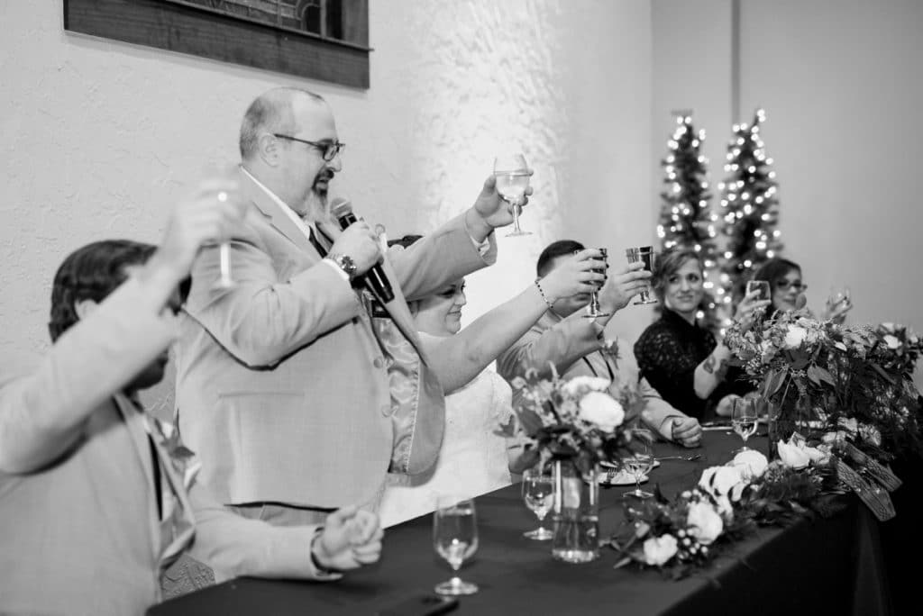 St. Louis Wedding Photographers, Silver Oaks Chateau Wedding, Toasts at Head Table