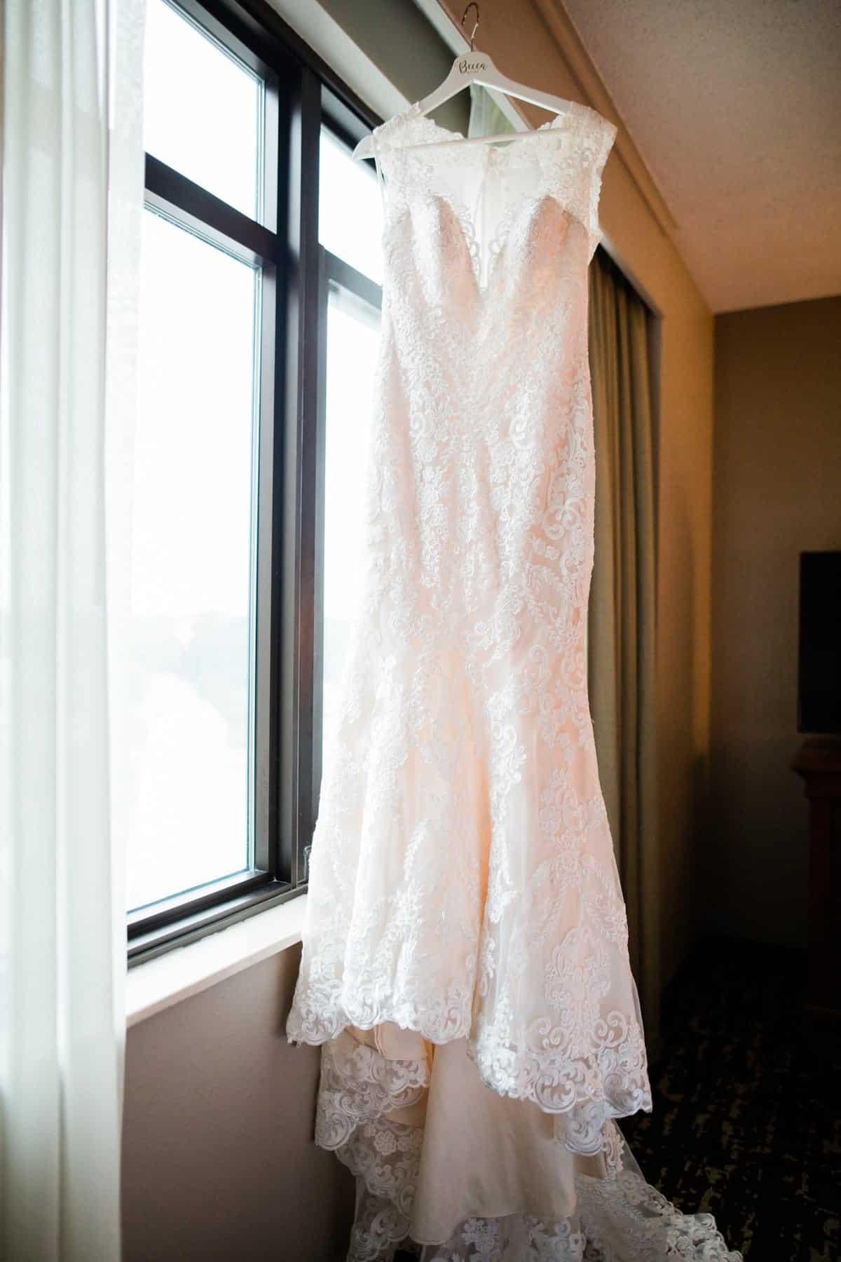 St. Louis Wedding Photographer, St. Charles Convention Center Wedding, Wedding Dress Detail