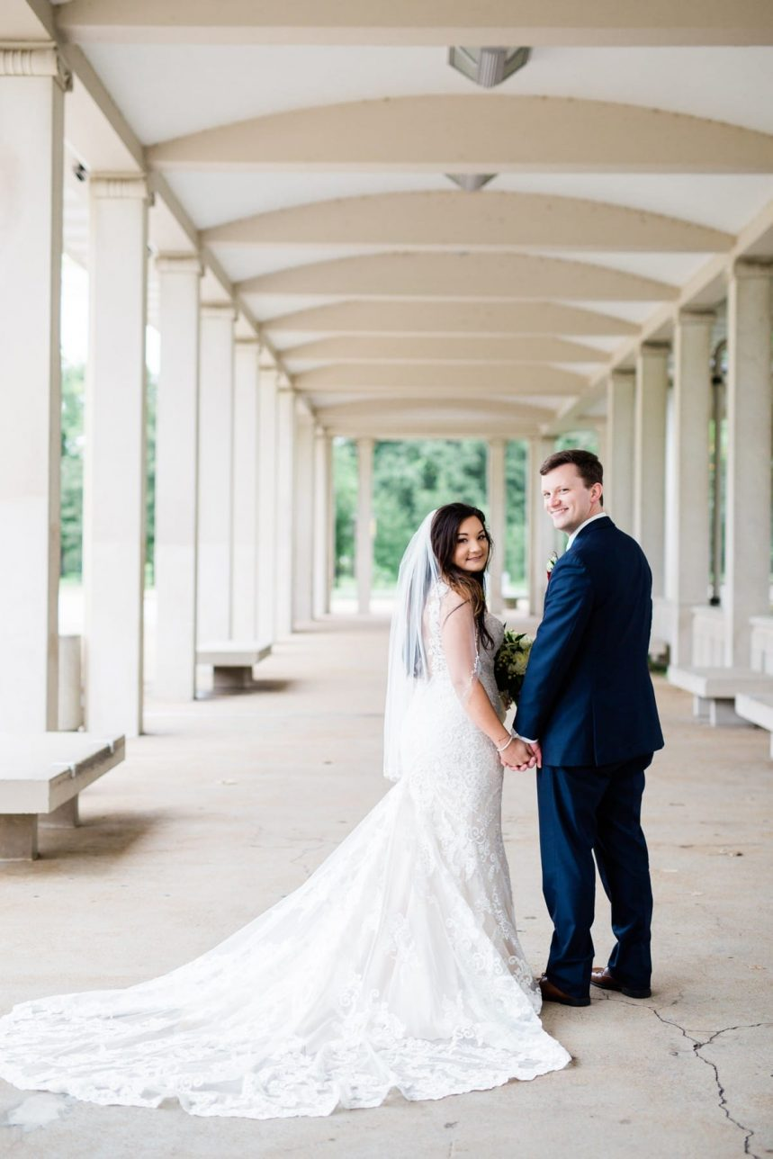 St. Louis Wedding Photographer, St. Charles Convention Center Wedding, Bride and Groom Portraits at Forest Park in St. Louis MO
