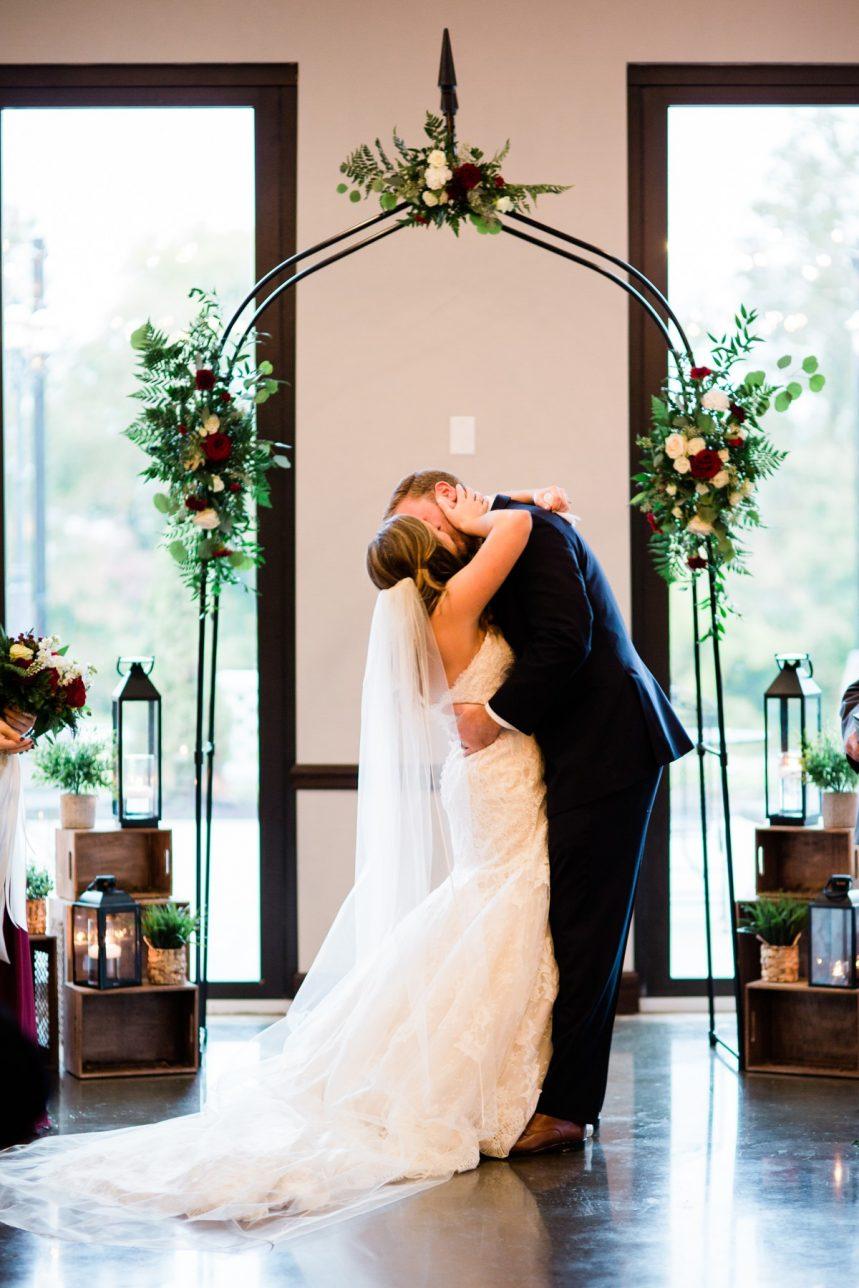 St. Louis Wedding Photographer, Piazza Messina Wedding Ceremony, St. Louis Wedding, First Kiss