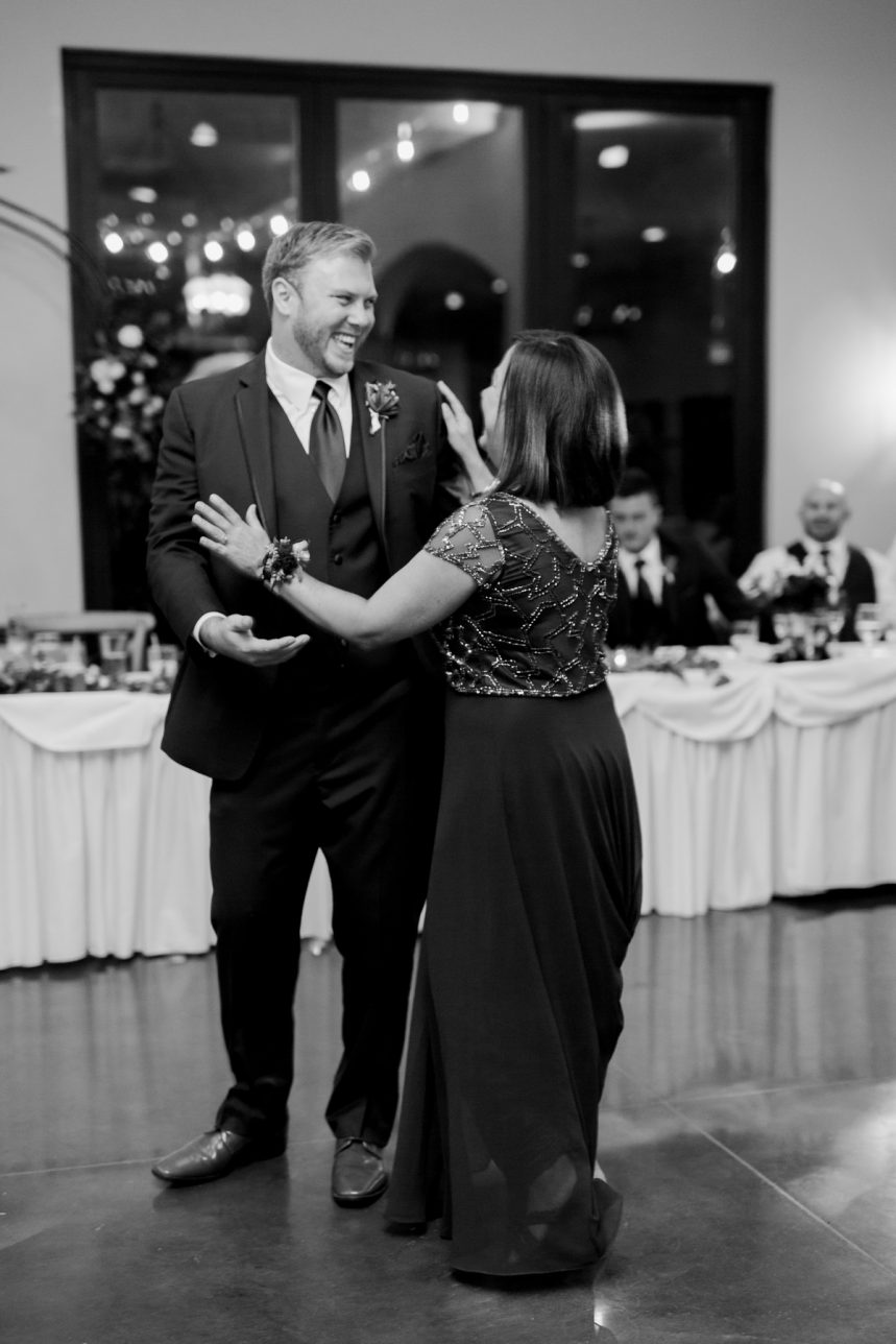 St. Louis Wedding Photographer, Piazza Messina Wedding Reception, St. Louis Wedding, Mother and Son Dance