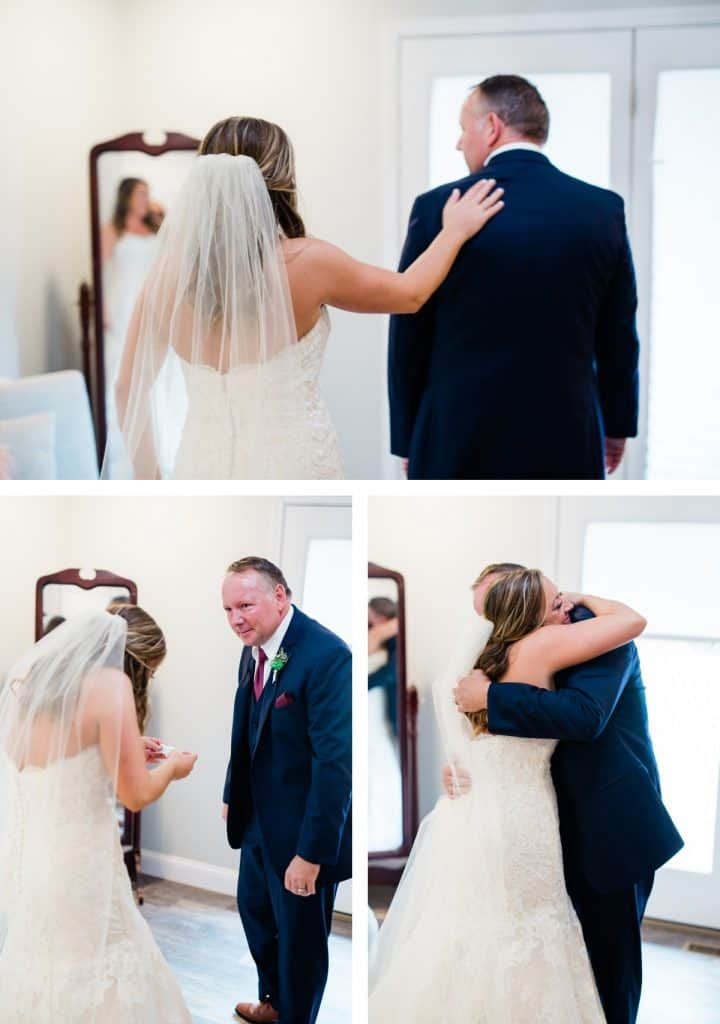 St. Louis Wedding Photographer, Piazza Messina Wedding, Bride and Father First Look