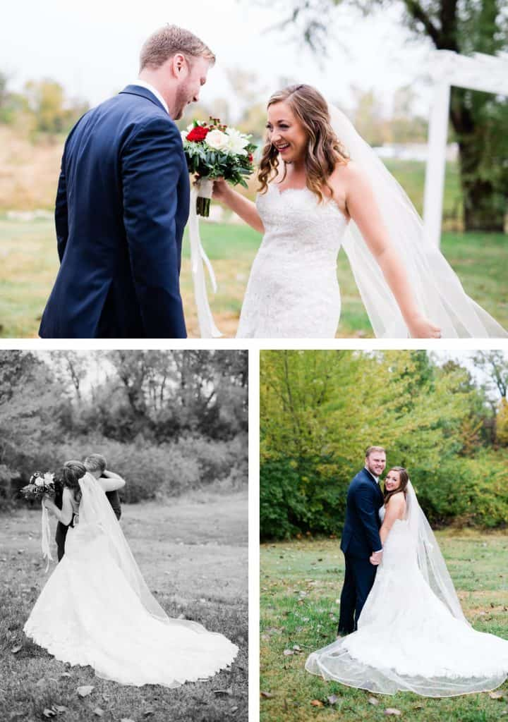 St. Louis Wedding Photographer, Piazza Messina Wedding, Bride and Groom First Look