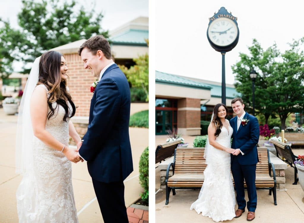 St. Louis Wedding Photographer, St. Charles Convention Center Wedding, First Look