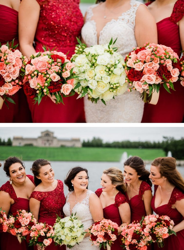 St. Louis Wedding Photographer, St. Charles Convention Center Wedding, Bridal Party Portraits at Forest Park
