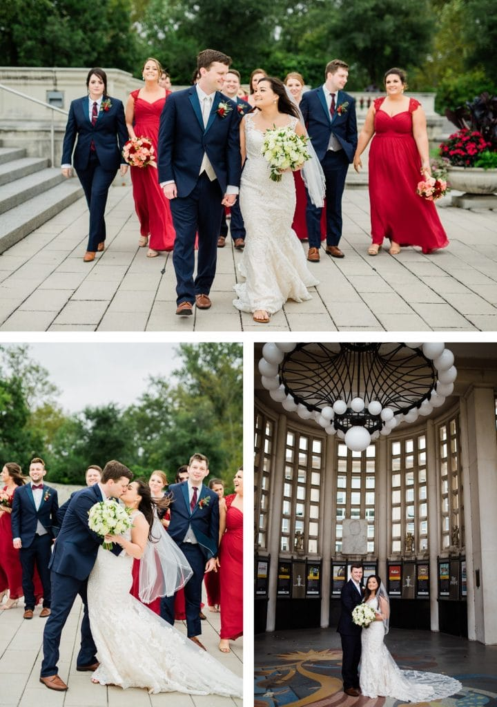 St. Louis Wedding Photographer, St. Charles Convention Center Wedding, Wedding Party Portraits at Forest Park