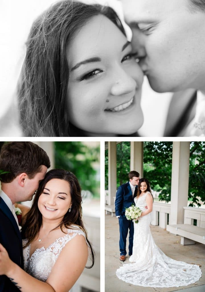 St. Louis Wedding Photographer, St. Charles Convention Center Wedding, Bride and Groom Portraits at Forest Park