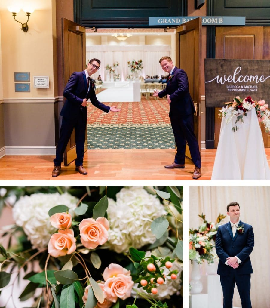 St. Louis Wedding Photographer, St. Charles Convention Center Wedding, Ceremony Details
